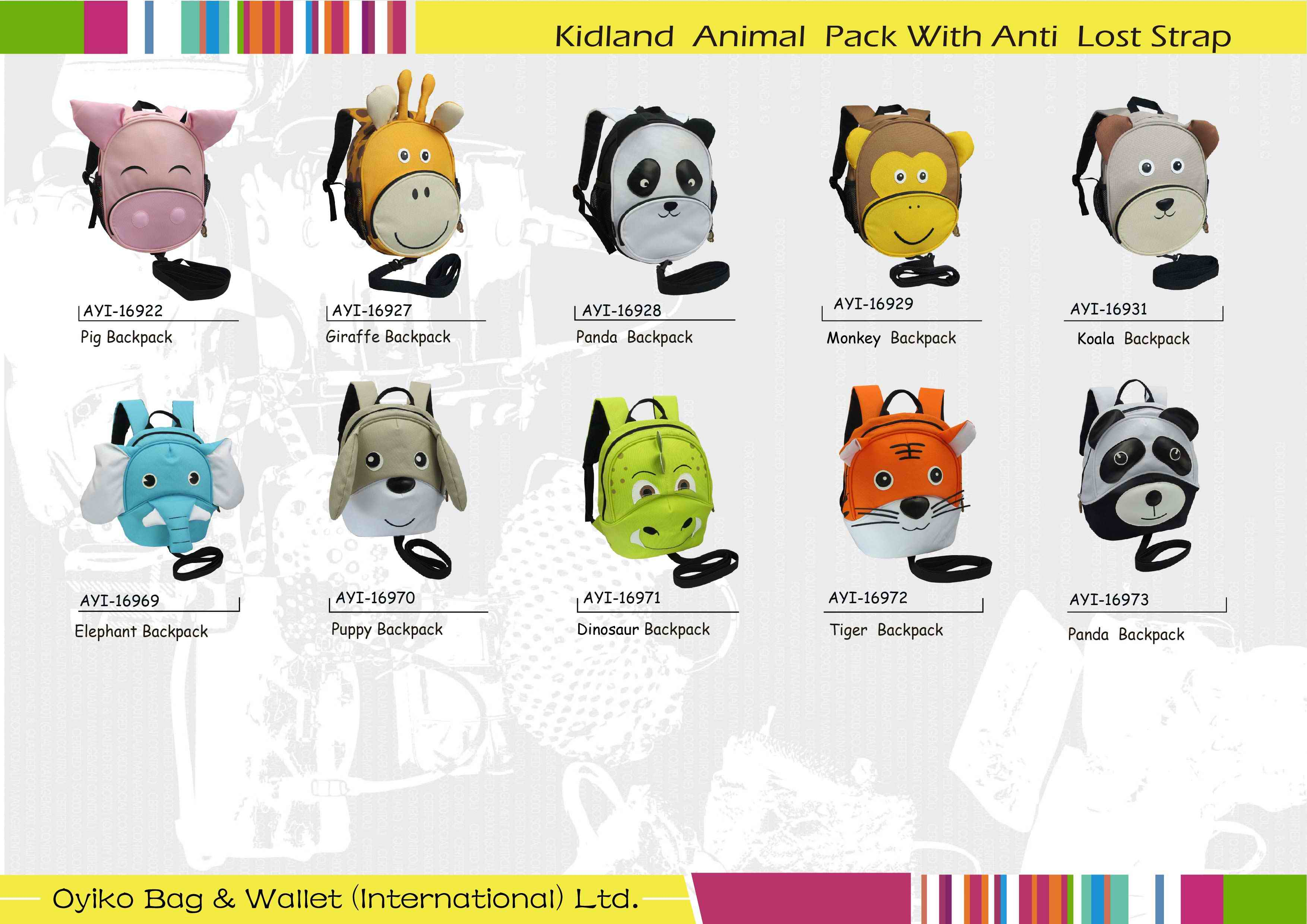 Kidland Animal Pack With Anti Lost Strap.jpg